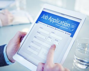 Applicant Filling Up the Online Job Application
